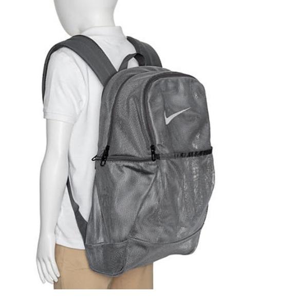 Nike🔴Unisex Brasilia Mesh backpack grey